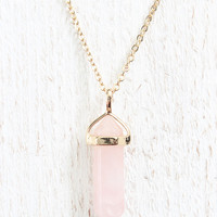 Baby Pink Stone Necklace
