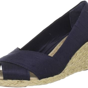 Lauren Ralph Lauren Women's Cecilia Wedge Sandal Dark Navy 9 B(M) US '