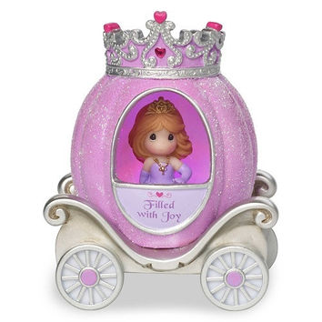 Precious Moments Pretty as a Princess Joy Princess Carriage Light Up Figurine