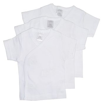 Bambini White Side Snap Short Sleeve Shirt - 3 Pack