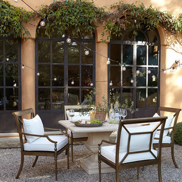 Alexandra Outdoor Urn Pedestal Table & Sophia Dining Chairs