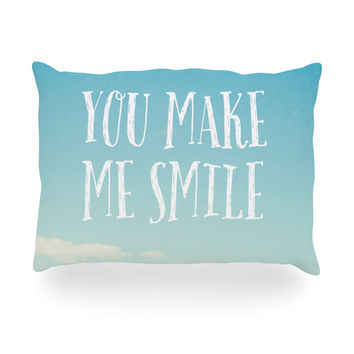 "Susannah Tucker ""You Make Me Smile"" Beach Sky Oblong Pillow"
