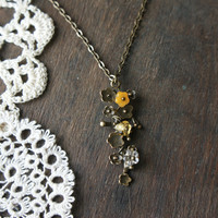 Foxglove Necklace - Citrine