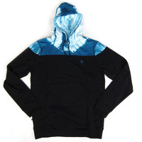 Quiet Life: Color Blocked Hoodie - Black / Tie Dye
