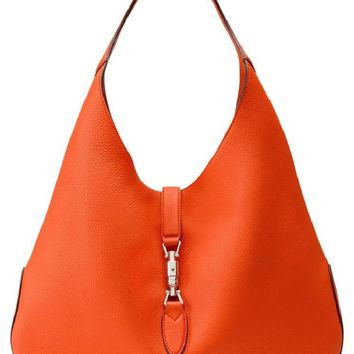 Gucci Jackie Soft Leather Large Orange Hobo Bag 362968