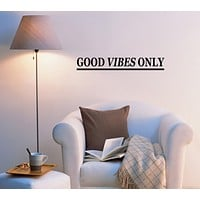 Good Vibes Only Inspirational Quote Room Home Decor Idea Yoga Meditation Words ig6011 (22.5 in x 3.5 in)
