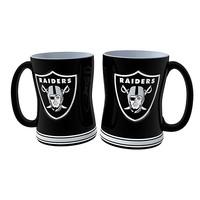 Oakland Raiders 2-pc. Relief Coffee Mug Set (Oak Team)