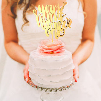 Wedding Cake Topper - You are my number 1 (WCT00066)