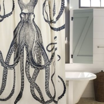 Nautical Octopus Shower Curtain