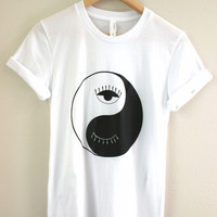 Eye Yin Yang Graphic Unisex Tee