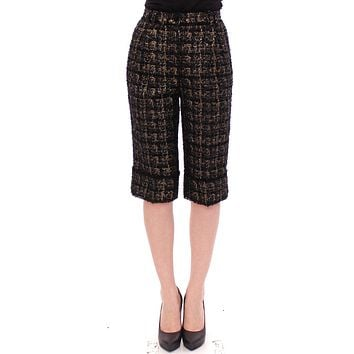 Black fabric shorts pants