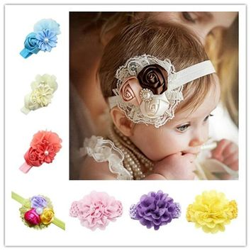 Fille Headbands Baby Girls Hair Accessories Newborn Photography Props Acessorios  Flower Faixas Hair Accessories girl headband