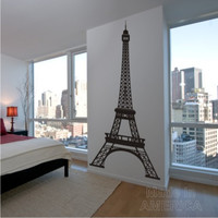 Free Shipping - Large Eiffel Tower Vinyl Wall Decal Art 96 inches tall