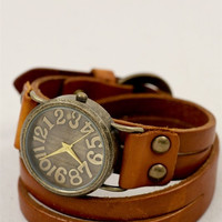 Wrapped in Time Leather Watch