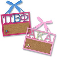 Sorority Letter Corkboard - Sale | custom sorority accessories and gifts from SomethingGreek.com