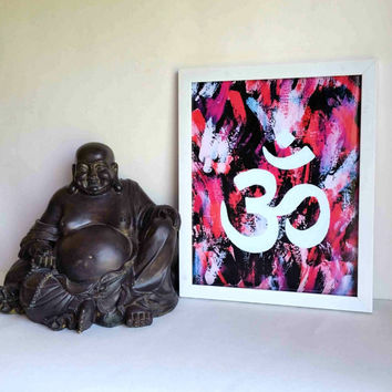 Indian Hindu Om or Ohm symbol 8.5 x 11 inch art print poster for office, dorm room, or home decor