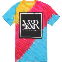 Young & Reckless Core Logo Tie Dye T-Shirt - Mens Tee - Multi - Extra Large