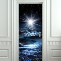 Door STICKER sea north star mural decole film /