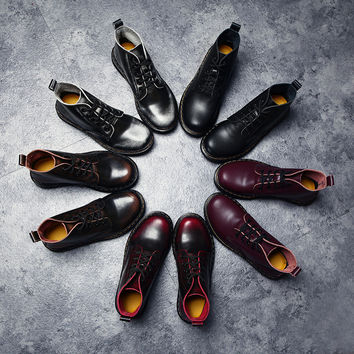 Hot Deal On Sale Shoes England Style Flat With Heel Leather Dr. Martens Boots [6366190340]