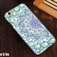 Beautiful Datura FLORAL PAISLEY flower mandala designs Funda Phone Case Cover for Iphone 5 5s 6 6s Plus 4.7/5.5 inch