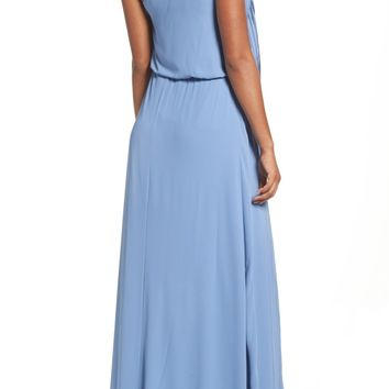 BCBGMAXAZRIA Waterfall Ruffle One-Shoulder Gown | Nordstrom