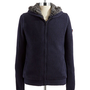 Strellson Pearce Ribbed Sweater Jacket