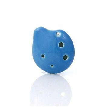 Seedpod Ocarina Soprano C Clearwater Blue