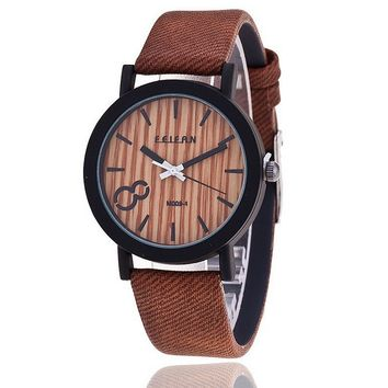 Archaize Stripe Men Women Wood Grain Watch