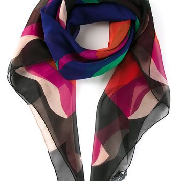 Alexander McQueen abstract skull print scarf
