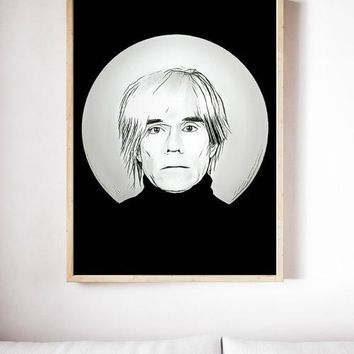 Andy Warhol Poster Pop Art Painting Print Canvas