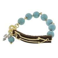 Gold and Turquoise Arrow Bracelet