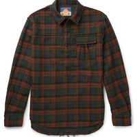 Blackmeans - Slim-Fit Checked Cotton-Flannel Shirt