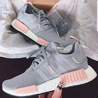 ADIDAS New Fashion Running Sport Casual Shoes NMD Sneakers Women Grey
