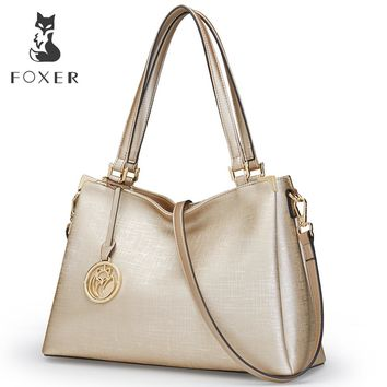 FOXER Brand New Fashion Women Leather Shoulder Bag Ladies Handbag Female Luxury Bags Women's Leather Bags Tote For Women