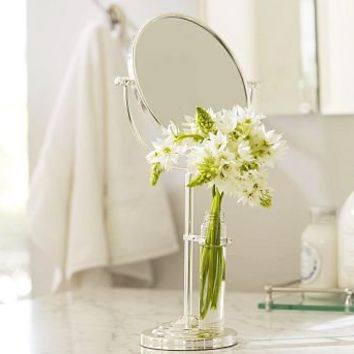 Vanity Mirror with Bud Vase | Pottery Barn