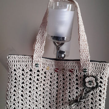 Crochet Boho Shoulder Bag,Bag for daily use or for special occassions,Gift Idea,shoulder bag, summer bag,2015,