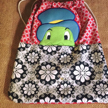 Jiminy Cricket Drawstring Back Pack