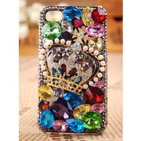 iPod Touch and iPhone 5  4S 3GS Crown Case Cover Gift - Apple iPhone Cases - Phone Cases Rhinestones iPhone 5 4S 3GS Cases, Couple Necklaces / Wedding Rings & Uncommon Gift Ideas - Worldwide Shipping