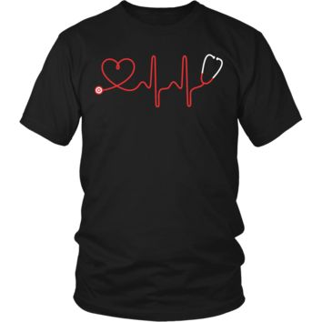 Funny Stethoscope And Heart Doctor Lovers Gifts T-Shirts For Men Women Kids