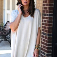 Sand V-Neck Piko {TUNIC}