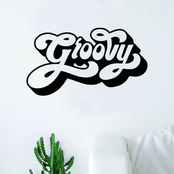 Groovy Wall Decal Decor Art Sticker Vinyl Room Bedroom Inspirational Home Kids Baby Hippy Peace Love