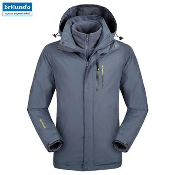 Plus Size snowboard jacket men waterproof snow jackets men Thermal ski jacket Fleece Mountain hiking ski jacket Big yards