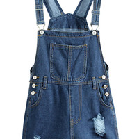 Denim Ripped Rompers