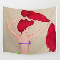 The Little Mermaid Wall Tapestry by Sierra Christy Art