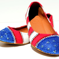 Red, White, and Blue Patriotic Flats
