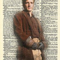 Captain Mal - Firefly Inspired Vintage Dictionary Page Art Print