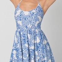 Floral Print Nylon Tricot Figure Skater Dress | American Apparel
