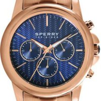 Sperry Top-Sider Halyard Chronograph Watch RoseGold/Navy, Size One Size  Women's