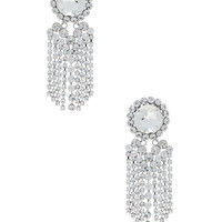 Alessandra Rich Chandelier Earrings in Crystal | FWRD
