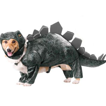 Stegosaurus Dog Costume (Small,Brown)
